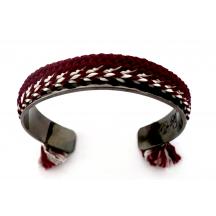 By Lis - bracelet-tresse-bordeaux-et-blanc