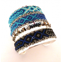 By Lis - bresiliens-bleu-turquoise-marine-perles-noir