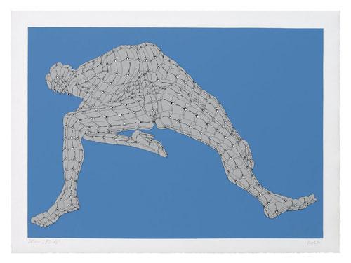 Feuer im Weizen (Sexmappe), 1970 impression sérigraphique sur papier fait main, 9 feuillets 9 x (47 x 64 cm), Edition 74/100