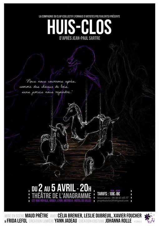 Affiche du spectacle Huit-Clos qui se jouera le 6 et le 7 Juin - Crédit Le Collectif CLAP