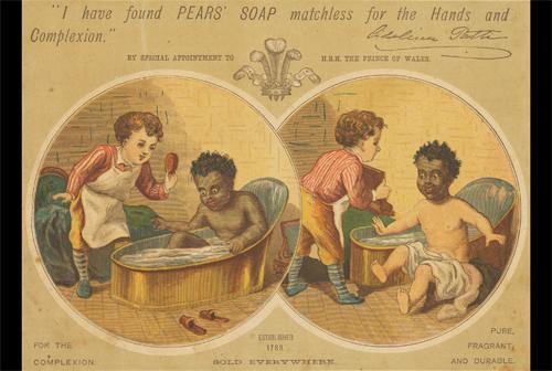 Publicité pour du savon, dans les années 1880.
