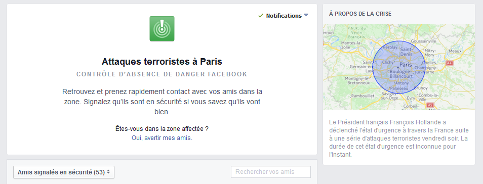 attentats paris facebook