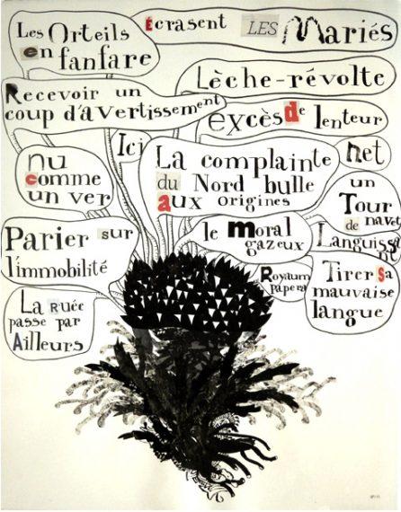 Les oreilles en fanfare, Plant de poésie, Gillian Ferreira (exposé lors de la BHN)