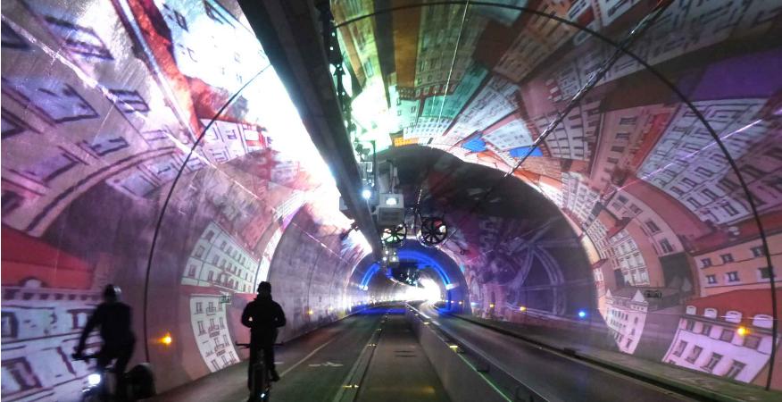 """Le tunnel """"modes doux"""" de la Croix-Rousse"""