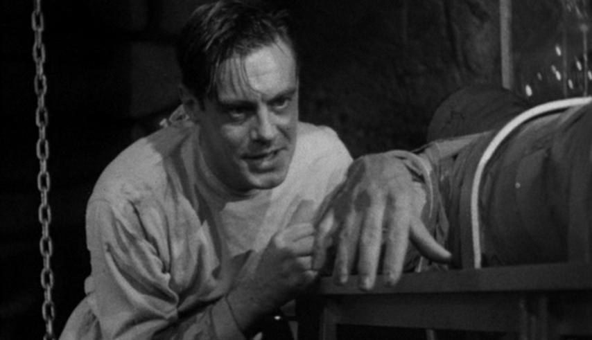 Colin Clive dans le rôle du docteur Frankenstein (Frankenstein, Whale, 1931)