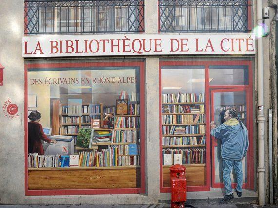 Fresque, la bibliothèque de la cité