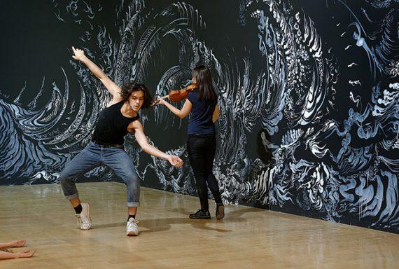 Les étudiants du CNSMD au Musée d'Art Contemporain ©MAC