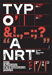 Affiche de l'exposition du Musée de l'Imprimerie