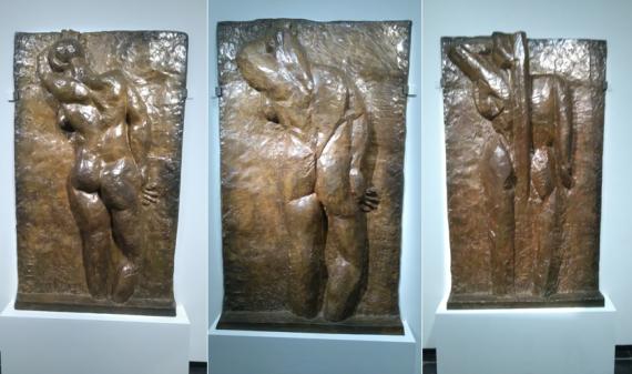 Nu de dos, I, II et III, bronze, Matisse