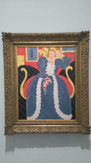 Grande Robe Bleue et Mimosas, Matisse