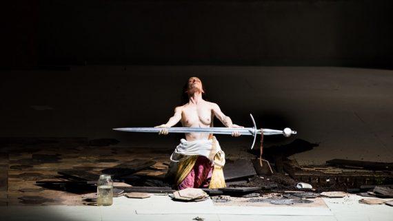 Une des rares images puissantes de l'oratorio de Castellucci