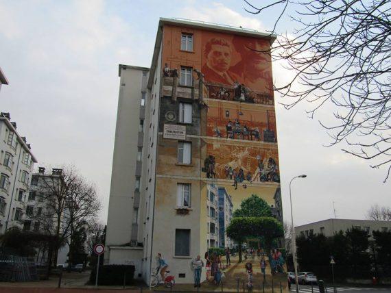 La première fresque rénovée en 2016