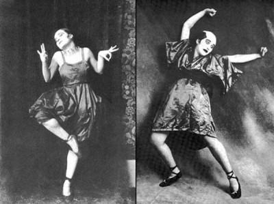 Le danseur et comédien berlinois Valeska Gert, années 20, est une inspiration d'Aurélie