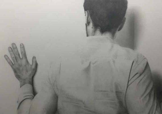 """Christophe Moreau - """"Vice-versa"""" - dessin aux crayons à papier"""